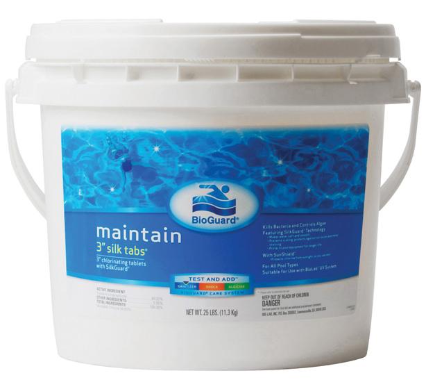 Bioguard 3 Chlorinating Silk Tablets For Swimming Pools 25 Lb Item 52213