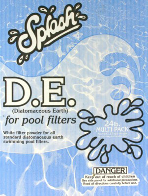 D E Swimming Pool Filter Powder Diatomaceous Earth 24 Lbs Item Aaa 211
