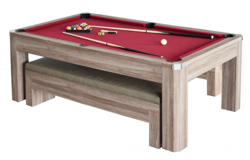 Hydropool.com   Newport 7 Ft. Billiards And Table Tennis Set With Benches    Item NG2535P