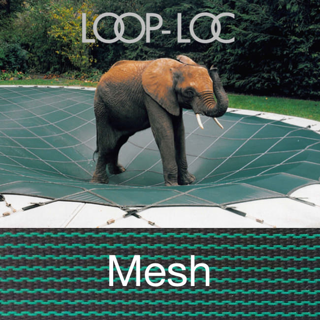 Hydropool Pool Size 24x40 Loop Loc Green Mesh Rectangle Safety Cover For Inground Pools Item Llm1047