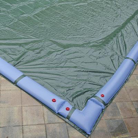20 X 40 Inground Winter Pool Cover Plus 16 Water Tubes And Leaf Guard 10 Year Green Black