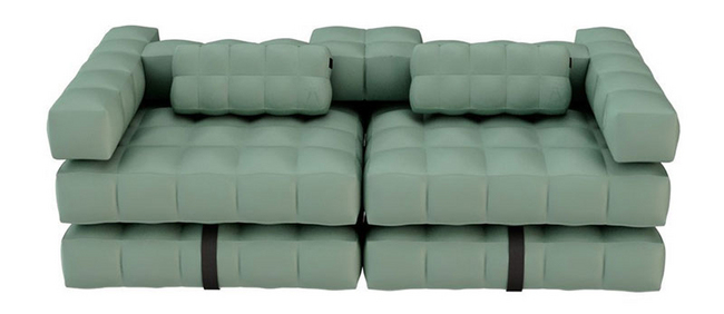 pigro felice modul 39 air infltabale sofa set in olive green. Black Bedroom Furniture Sets. Home Design Ideas