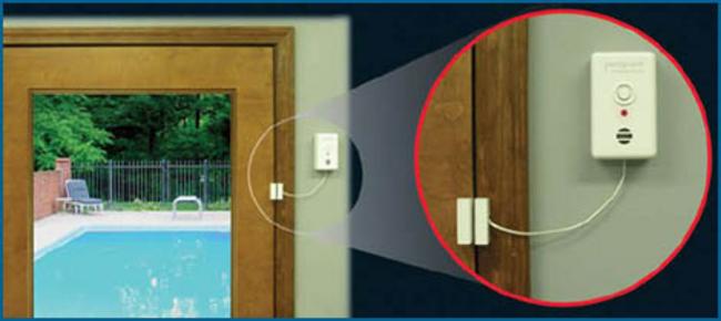 Pool guard door alarm hydropool item dapt