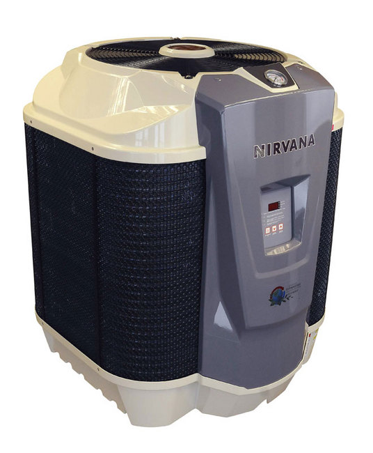 Nirvana swimming pool heat pump 75 000 btu for Swimming pool heaters