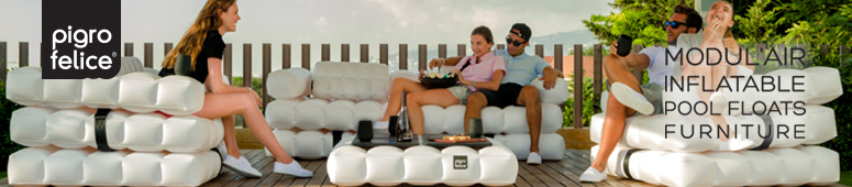 Pigro Felice Modul'Air Inflatable Pool Floats and Furniture