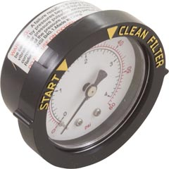 "Pressure Gauge, Pentair, 1/4""mpt, 0-60psi, Back Mount - Item 14-110-1002"