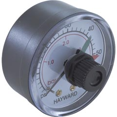 "Pressure Gauge, Hayward, 1/4""mpt,0-60psi,Back Mount,Adj Dial - Item 14-150-1352"