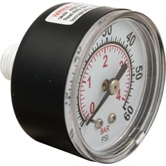 "Pressure Gauge, Pentair StaRite, 1/4""mpt, 0-60psi,Back Mount - Item 17-102-1100"