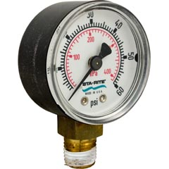 "Pressure Gauge, Pentair StaRite,1/4""mpt,0-60psi,Bottom Mount - Item 17-102-1130"