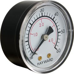 "Pressure Gauge, Hayward, 1/4""mpt, 0-60psi, Back Mount - Item 17-150-1302"