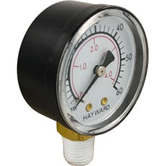 "Pressure Gauge, Hayward, 1/4""mpt, 0-60psi, Bottom Mount - Item 17-150-1380"