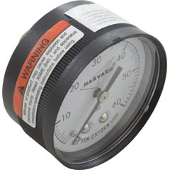 "Pressure Gauge, 1/4""mpt, 0-60psi, Back Mount, Generic - Item 17-555-1018"