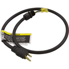 Power Cord, NEMA 15A, 3 foot, 3 Wire, with Strain Relief - Item 35-110-1060