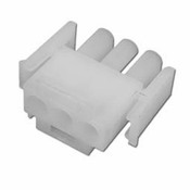 Amp Plug 3 Pin Male Plastic White - Item 1-480700