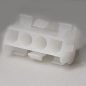 Amp Receptacle 3 Pin Female Plastic White - Item 1-480701