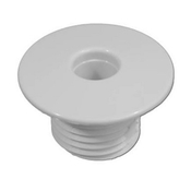 "Air Injector Wall Fitting Slotted 7/16"" ID x 1-1/2"" OD White - Item 10210-White"