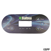 "Spa Side Overlay Balboa VL6"" 00S 6"" BTN LCD (For 5"" 45"" 48) 7Oval - Item 11774BAL"