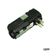 GFCI Leviton Cord End 90 Degree 120V 20 Amp No Cord Black - Item 16793