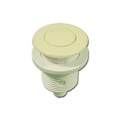 "Air Button Flush Btn 1-1/4"" H 1-3/4"" F 2-1/8"" L Bone - Item 3070-BO"
