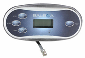 "Spa Side Control EleCenteronic Balboa VL406"" T 4BTN LCD 10'Cbl with 8"" Conn - Item 50210"