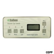 "Spa Side Control EleCenteronic Balboa Standard Dig (Old Style) 5"" BTN LCD - Item 50798"