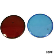 "Light Lens Kit Waterway Colored Lens Only (1""Red and 1""Blue)  - Item 630-0005"