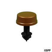 "Air Button Herga Mushroom 3/4"" H 2-1/4"" F 2-1/8"" L Brown - Item 6433-BRN"