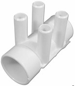 "Manifold PVC Waterway (ShurGrip) 1.5"" S x 1.5"" S x (4) 3/4"" SB - Item 672-4140"