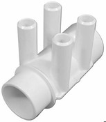 "Manifold PVC Waterway (ShurGrip) 1.5"" S x 1.5"" Spg x (4) 3/4""  - Item 672-4150"