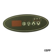 "Spa Side Overlay Hydro Quip ECO-1""4BTN LED Oval (P1-LT-UP-DN)  - Item 80-0201"