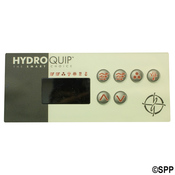 "Spa Side Overlay Hydro Quip ECO-3 6"" BTN LED T: (P1-P2-BL/AUX-LT)  - Item 80-0203"