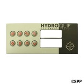 Spa Side Overlay Hydro Quip HT2 8BTN LCD T: (P1-P2-BL/AUX-LT)  - Item 80-0211