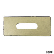 "Spa Side Adapter Plate Hydro Quip 8-1/2"" x 3-1/2"" Small Spasides - Item 80-0510A"